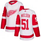 Cheap Adidas Red Wings #51 Frans Nielsen White Road Authentic Stitched Youth NHL Jersey