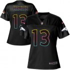 Cheap Nike Broncos #13 KJ Hamler Black Women's NFL Fashion Game Jersey