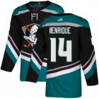Cheap Adidas Ducks #14 Adam Henrique Black/Teal Alternate Authentic Youth Stitched NHL Jersey