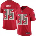 Cheap Nike Buccaneers #35 Jamel Dean Red Men's Stitched NFL Limited Rush Jersey