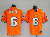 Cheap Dolphins Pat White #6 Orange Stitched NFL Jersey