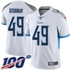 Cheap Nike Titans #49 Nick Dzubnar White Youth Stitched NFL 100th Season Vapor Untouchable Limited Jersey