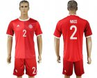 Cheap Danmark #2 Wass Red Home Soccer Country Jersey