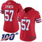 Cheap Nike Bills #57 A.J. Epenesas Red Women's Stitched NFL Limited Rush 100th Season Jersey