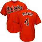 Cheap Orioles #4 Earl Weaver Orange Team Logo Fashion Stitched MLB Jersey