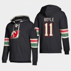 Cheap New Jersey Devils #11 Brian Boyle Black adidas Lace-Up Pullover Hoodie