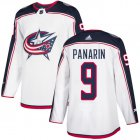 Cheap Adidas Blue Jackets #9 Artemi Panarin White Road Authentic Stitched Youth NHL Jersey