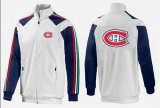 Cheap NHL Montreal Canadiens Zip Jackets White-1