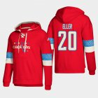 Cheap Washington Capitals #20 Lars Eller Red adidas Lace-Up Pullover Hoodie