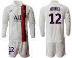 Cheap Paris Saint-Germain #12 Meunier Away Long Sleeves Soccer Club Jersey