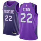 Cheap Women's Nike Phoenix Suns #22 Deandre Ayton Purple NBA Swingman City Edition Jersey