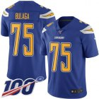Cheap Nike Chargers #75 Bryan Bulaga Electric Blue Youth Stitched NFL Limited Rush 100th Season Jersey