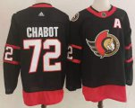 Cheap Men's Ottawa Senators #72 Thomas Chabot Black Adidas 2020-21 Stitched NHL Jersey