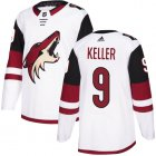 Cheap Adidas Coyotes #9 Clayton Keller White Road Authentic Stitched Youth NHL Jersey