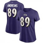 Cheap Baltimore Ravens #89 Mark Andrews Nike Women's Team Player Name & Number T-Shirt Purple