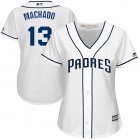 Cheap Padres #13 Manny Machado White Home Women's Stitched MLB Jersey