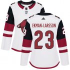 Cheap Adidas Coyotes #23 Oliver Ekman-Larsson White Road Authentic Women's Stitched NHL Jersey