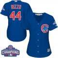 Cheap Cubs #44 Anthony Rizzo Blue Alternate 2016 World Series Champions Women's Stitched MLB Jersey