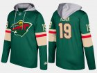 Cheap Wild #19 Luke Kunin Green Name And Number Hoodie