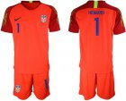 Cheap USA #1 Howard Red Goalkeeper Soccer Country Jersey