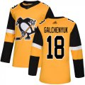 Cheap Adidas Penguins #18 Alex Galchenyuk Gold Alternate Authentic Stitched NHL Jersey