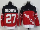 Cheap Olympic CA. #27 Alex Galchenyuk Red 100th Anniversary Stitched NHL Jersey