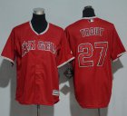 Cheap Angels #27 Mike Trout Red Cool Base Stitched Youth MLB Jersey