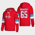Cheap Washington Capitals #65 Andre Burakovsky Red adidas Lace-Up Pullover Hoodie