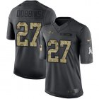 Cheap Nike Ravens #27 J.K. Dobbins Black Youth Stitched NFL Limited 2016 Salute to Service Jersey