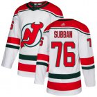 Cheap Adidas Devils #76 P.K. Subban White Alternate Authentic Stitched NHL Jersey
