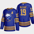 Cheap Buffalo Sabres #19 Jake Mccabe Men's Adidas 2020-21 Home Authentic Player Stitched NHL Jersey Royal Blue