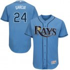 Cheap Rays #24 Avisail Garcia Light Blue Flexbase Authentic Collection Stitched MLB Jersey