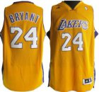 Cheap Los Angeles Lakers #24 Kobe Bryant Revolution 30 Swingman Yellow Jersey