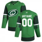 Cheap Carolina Hurricanes Men's Adidas 2020 St. Patrick's Day Custom Stitched NHL Jersey Green