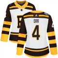 Cheap Adidas Bruins #4 Bobby Orr White Authentic 2019 Winter Classic Women's Stitched NHL Jersey
