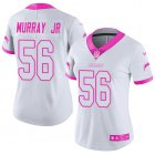 Cheap Nike Chargers #56 Kenneth Murray Jr White/Pink Women's Stitched NFL Limited Rush Fashion Jersey