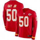 Cheap Nike Chiefs #50 Willie Gay Jr. Red Team Color Youth Stitched NFL Limited Therma Long Sleeve Jersey