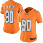Cheap Nike Dolphins #90 Shaq Lawson Orange Women's Stitched NFL Limited Rush Jersey
