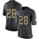 Cheap Nike Colts #28 Jonathan Taylor Black Youth Stitched NFL Limited 2016 Salute to Service Jersey