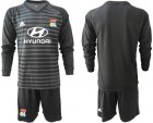 Cheap Lyon Blank Black Goalkeeper Long Sleeves Soccer Club Jersey