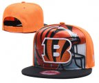 Cheap Bengals Team Logo Yellow Black Adjustable Leather Hat TX