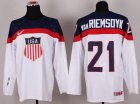 Cheap 2014 Olympic Team USA #21 James van Riemsdyk White Stitched NHL Jersey