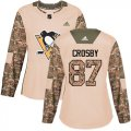 Cheap Adidas Penguins #87 Sidney Crosby Camo Authentic 2017 Veterans Day Women's Stitched NHL Jersey