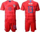 Cheap USA #13 Morgan Away Soccer Country Jersey