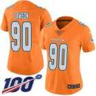 Cheap Nike Dolphins #90 Shaq Lawson Orangen Women's Stitched NFL Limited Rush 100th Season Jersey