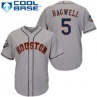 Cheap Astros #5 Jeff Bagwell Grey Cool Base 2019 World Series Bound Stitched Youth MLB Jersey