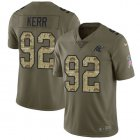 Cheap Nike Panthers #92 Zach Kerr Olive/Camo Men's Stitched NFL Limited 2017 Salute To Service Jersey