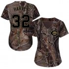 Cheap Reds #32 Matt Harvey Camo Realtree Collection Cool Base Women's Stitched MLB Jersey