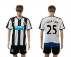 Cheap Newcastle #25 Obertan Home Soccer Club Jersey