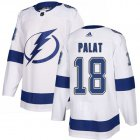 Cheap Adidas Lightning #18 Ondrej Palat White Road Authentic Stitched NHL Jersey